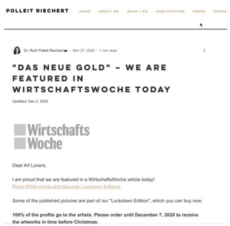 2020 Frank Doll, The New Gold, Wirtschaft WocheMagazine | Michal Raz