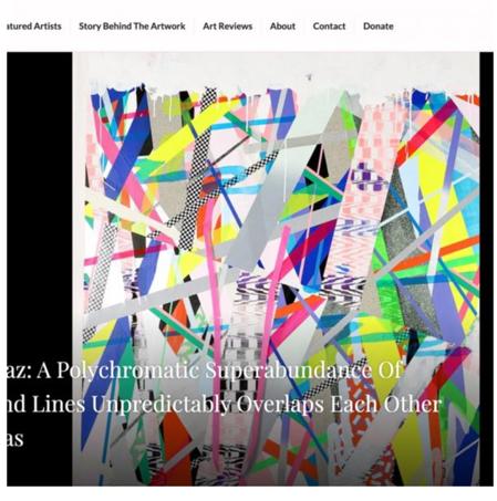 2018 Yanis Kostarias A Polychromatic Superabundance Of Forms And LinesUnpredictably Overlaps Each Other On Canvas, ArtVerge.com | Michal Raz מיכל רז אמנית